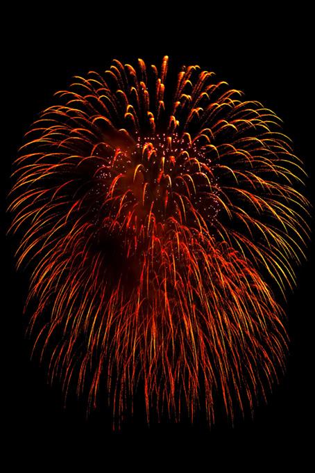 夏の夜空と大きな花火