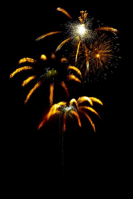 夏の夜空と彩り豊かな打上げ花火