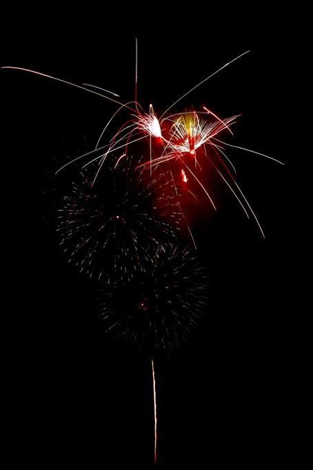 夏の夜空を照らす打上げ花火