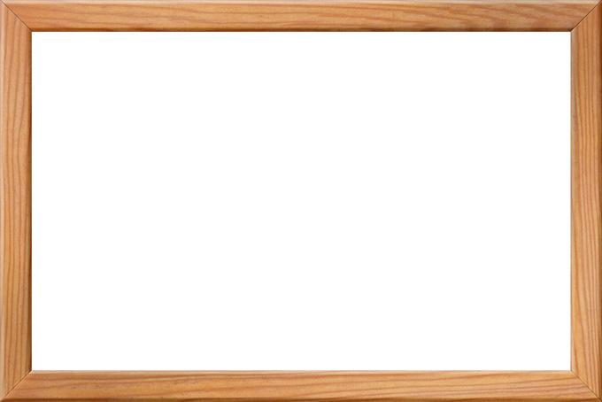 木目が美しい木製の額縁