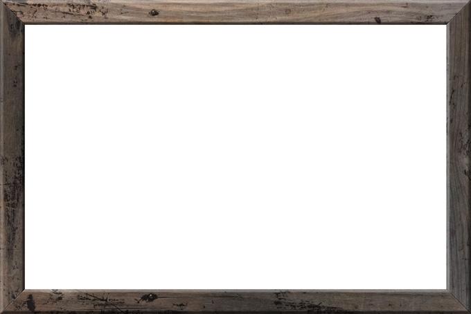使い古された木製額縁