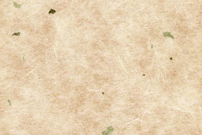楮と皮の入った和紙のテクスチャ