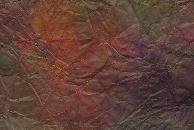 茶系の揉紙の和紙素材