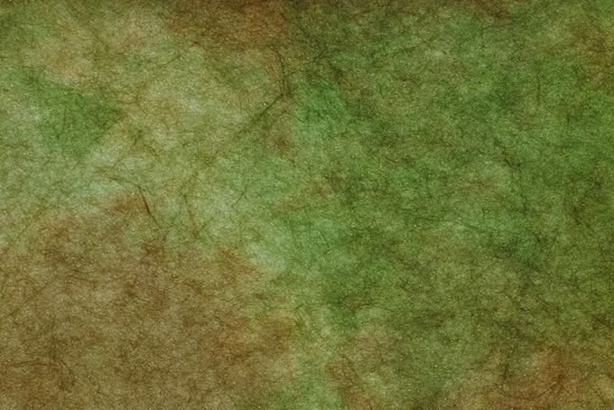 草色と茶色が混ざる斑の和紙