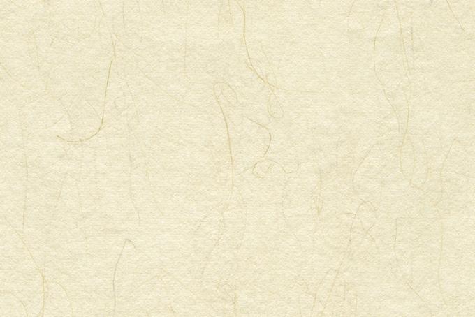 細長い楮の入った淡黄蘗色の和紙