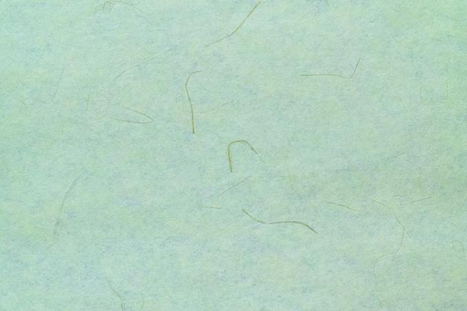 筋の入った山葵色の和紙
