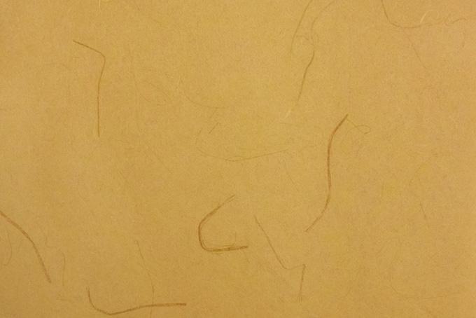 明るく渋い楊梅色の和紙