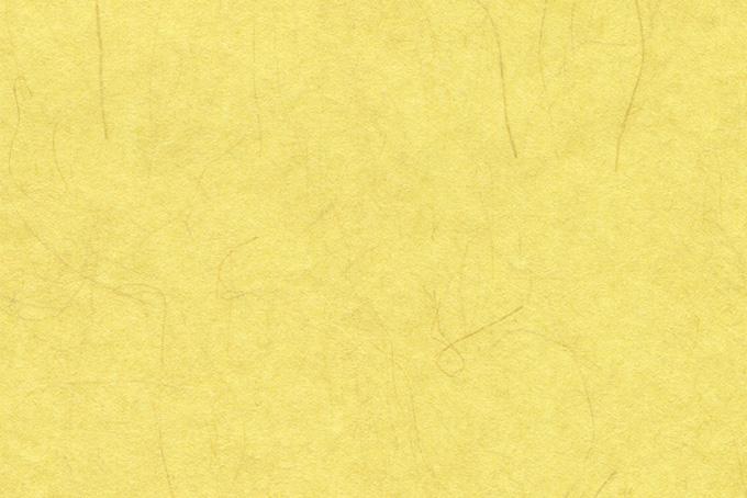 楮の繊維が入った黄蘗色の和紙