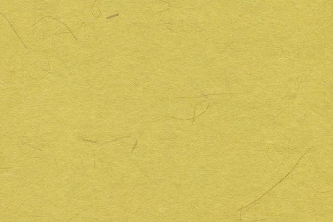 菜種油色に染められた和紙