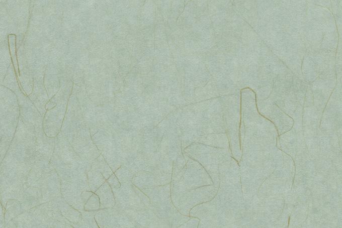 細い楮がある浅葱鼠の和紙