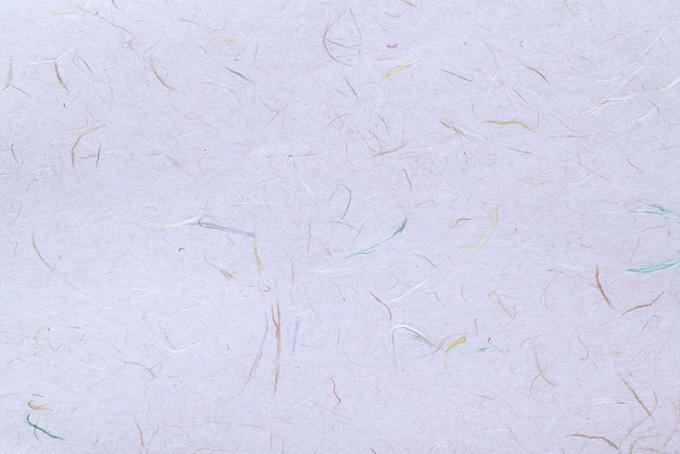 淡藤色の地紙に色付き楮の和紙の背景