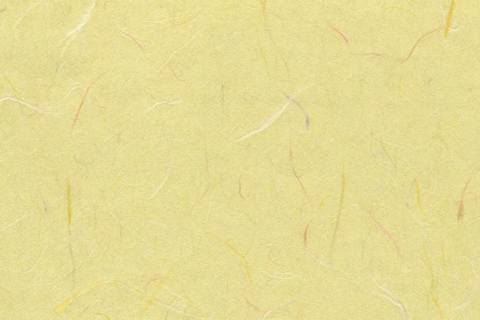淡黄蘗に染められた因州和紙の背景