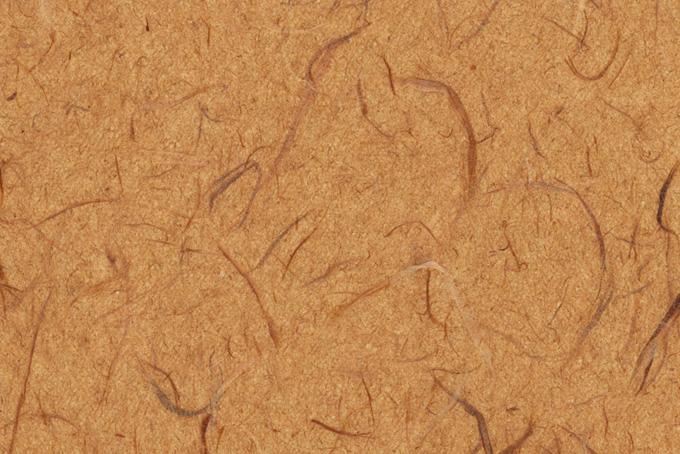 伽羅茶色の荒いテクスチャの雲龍和紙の背景