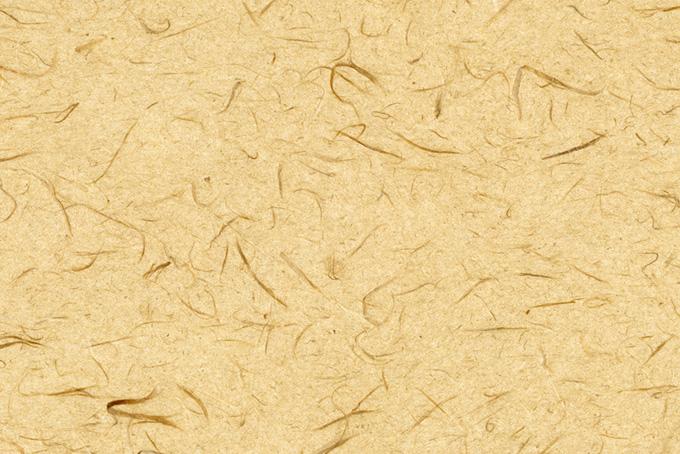 楮の繊維の入った丁子色の和紙の背景