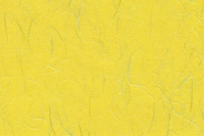 檸檬色に染められた筋のある和紙の背景