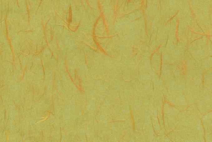 朱色楮の筋がある梅幸茶色の和紙の背景