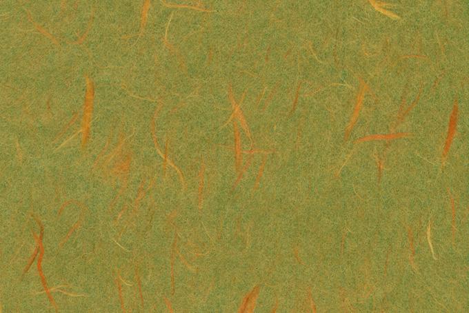 楮の模様が美しい鶯色の和紙の背景