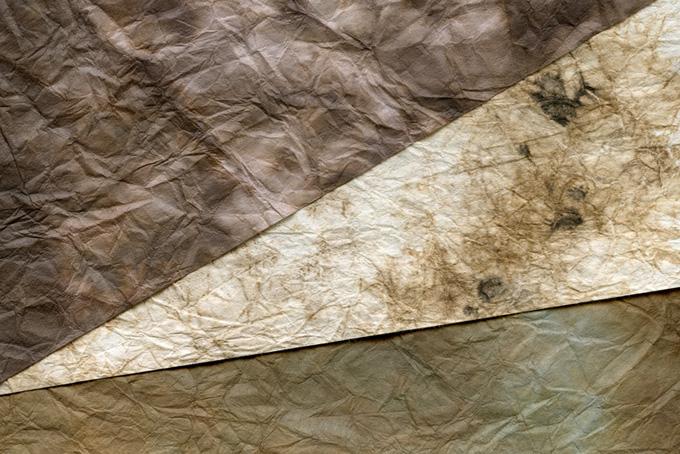 大地を感じる茶系の和紙背景のテクスチャ