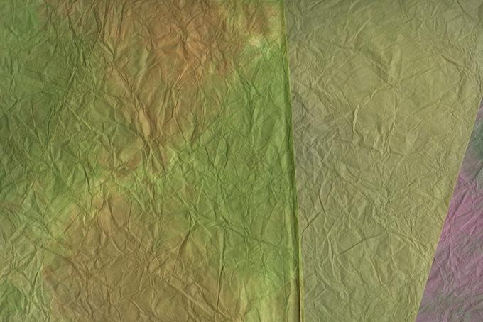 枯れかけた葉の様な和紙の背景のテクスチャ