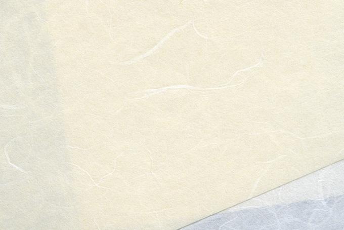 背景が透けて見える白い和紙のテクスチャ