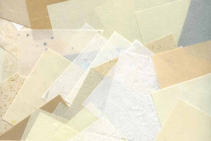 様々な和紙のテクスチャー背景のテクスチャ
