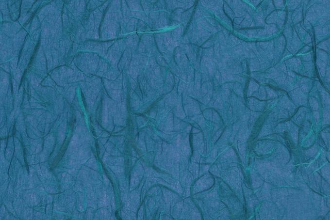 青藍色の緑筋が入った和紙背景