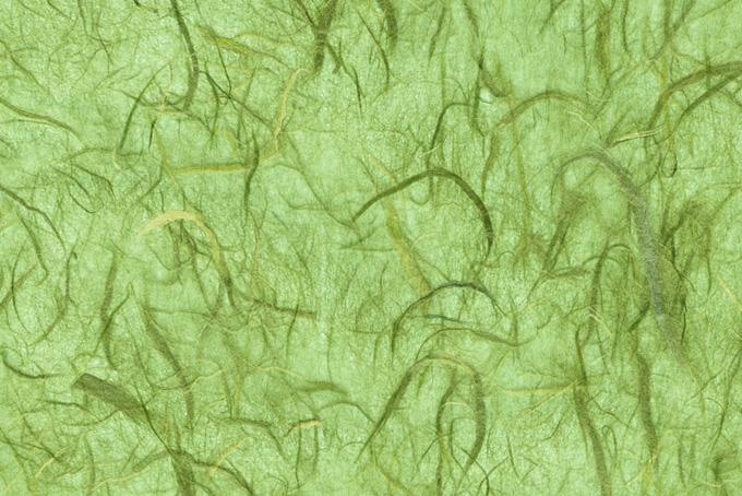 緑筋が幾つもある淡萌黄色の和紙素材