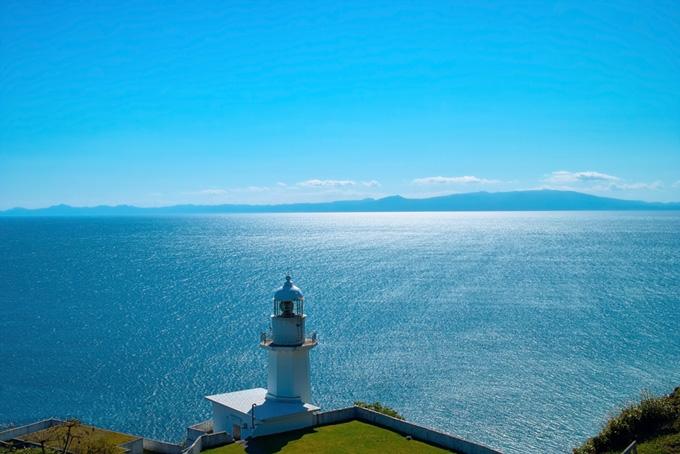 灯台と海の画像のテクスチャ