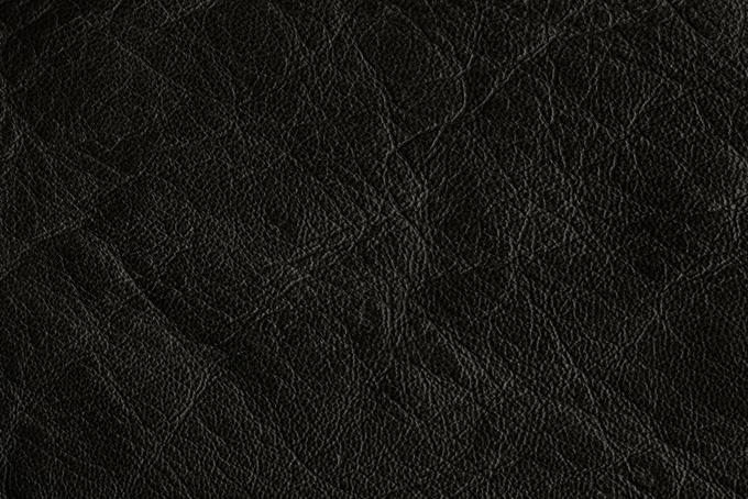 ハードなイメージの黒いレザー(革 テクスチャのフリー画像)