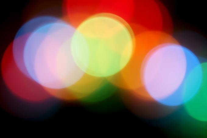 キラキラと輝く光