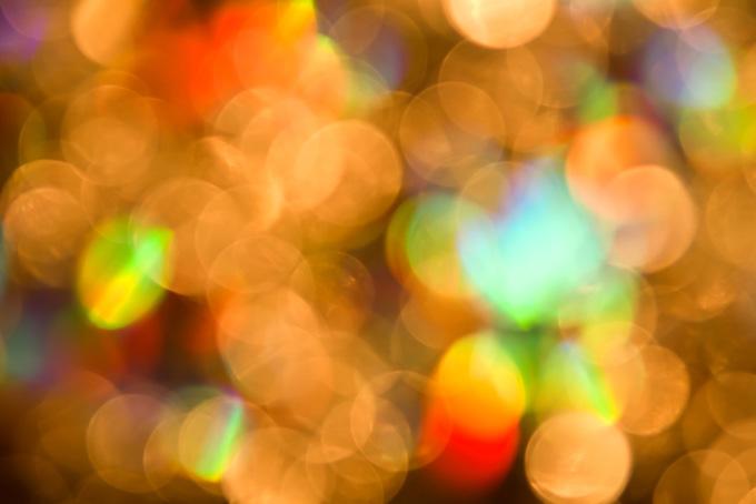 七色のイルミネーションの背景素材