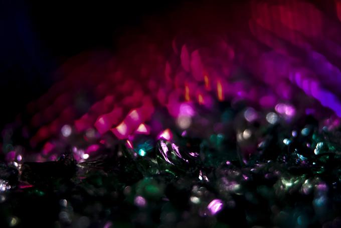 ピンクと緑のキラキラ