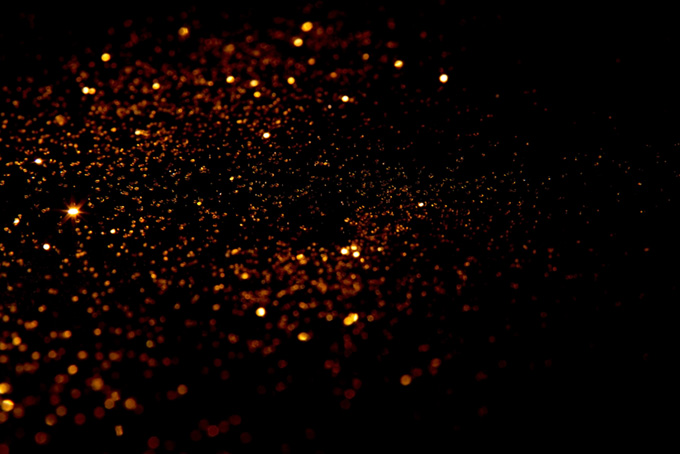 満天の星のような光