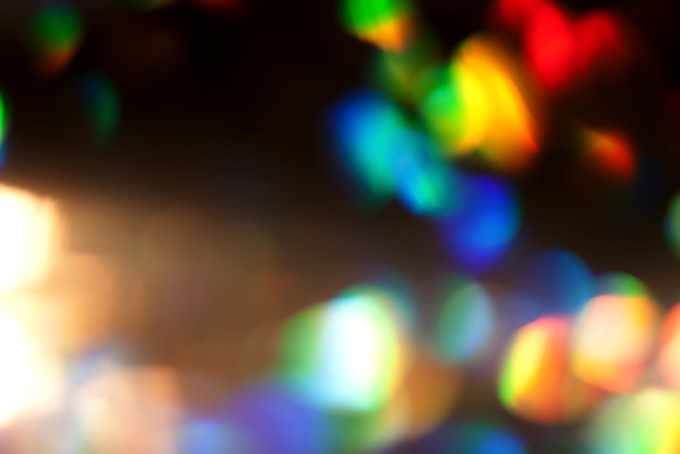 光・虹彩の背景