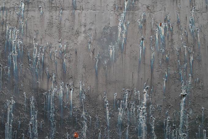 汚れた金属の荒廃した背景(金属 テクスチャのフリー画像)
