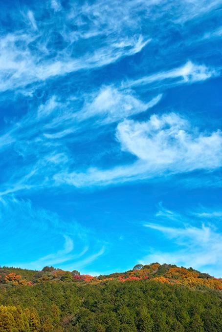 山と空の画像