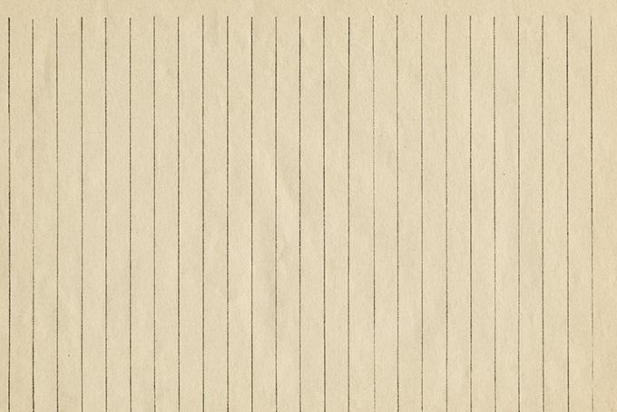 手書きの罫線のある古い更紙