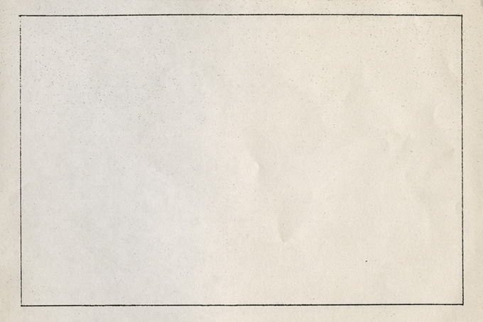 黒い枠線がコピーされた更紙