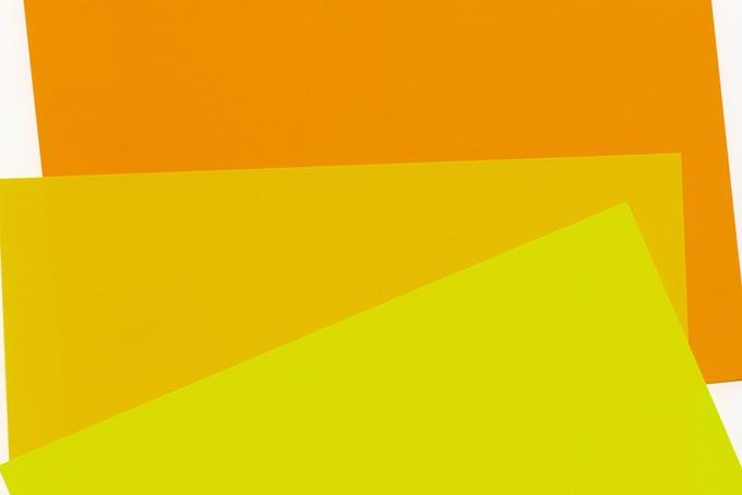 黄色系の三枚の折り紙