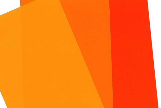 暖色系の折り紙のテクスチャ