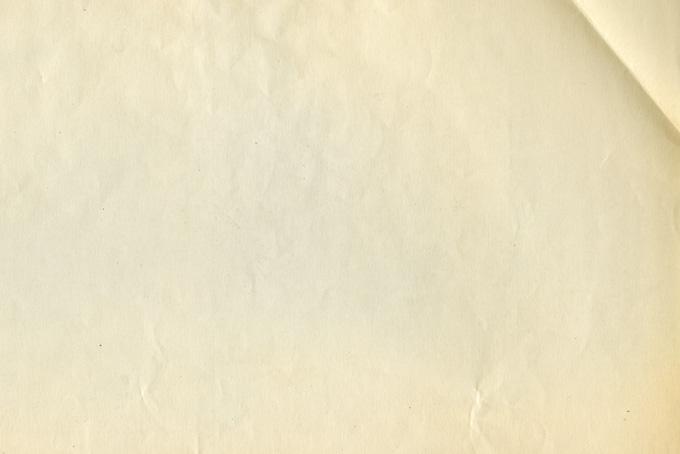 角に折れ目がある古紙の素材(紙 テクスチャのフリー画像)