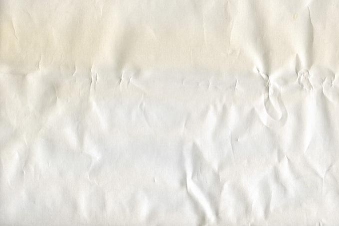 シワがある紙の画像(紙 テクスチャのフリー画像)