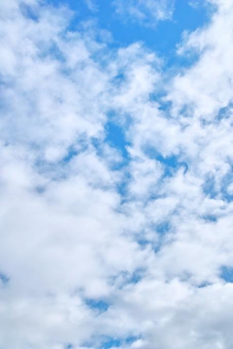 青空に張る千切れ雲