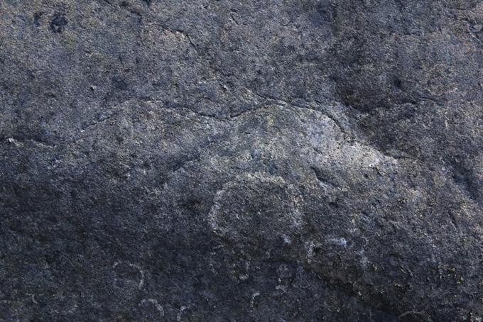 青みがかった灰色の石のテクスチャ(石 テクスチャのフリー画像)