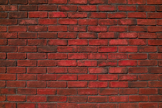 赤いレンガの壁のテクスチャ