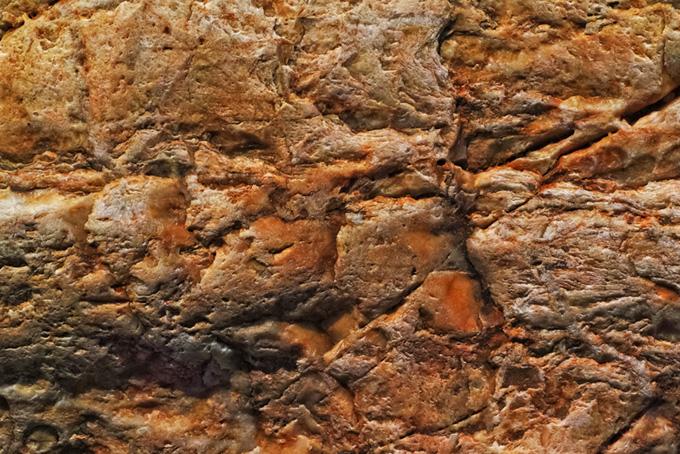波打った様な質感の岩のテクスチャ