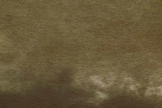 茶色い染料の滲みがある紙