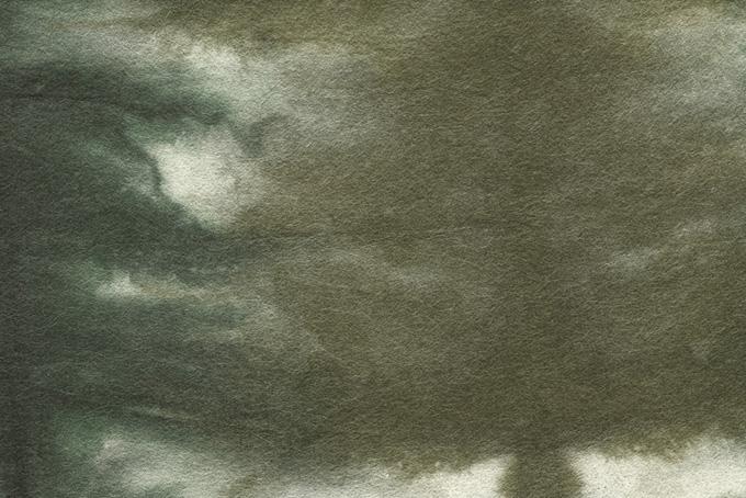 草色に染めて暈しのある紙