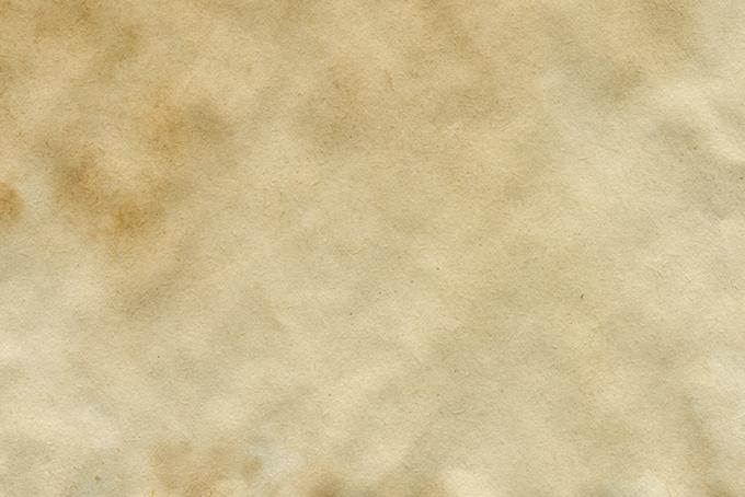 茶色いシミのついた紙