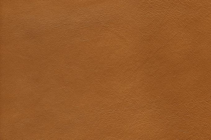 明るい茶色の革素材